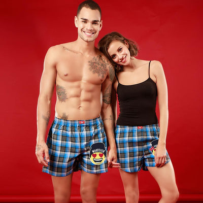 Whatever / Forever,  Matching Check Couple Boxers