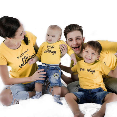 Wild Things, Matching Tees And Bodysuit For The Family