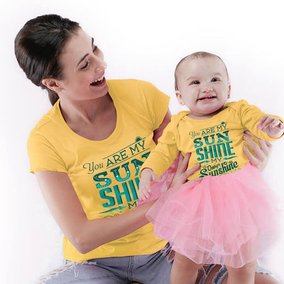You Are My Sunshine Mom & Son Bodysuit And Tees