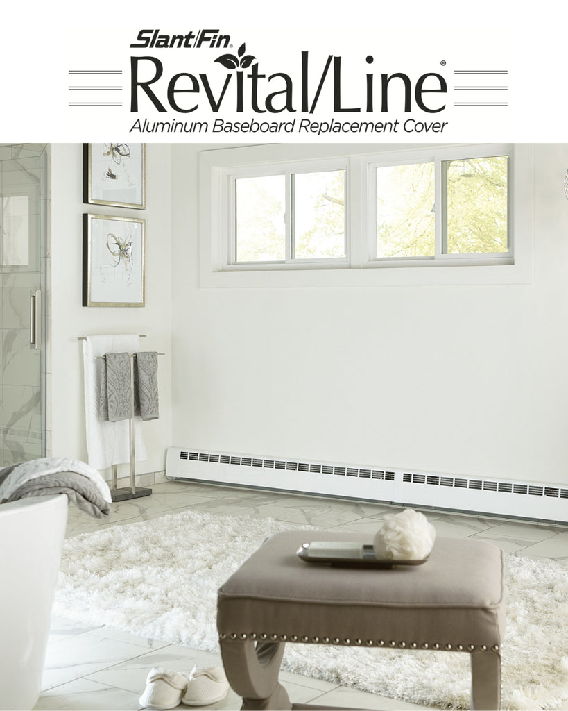 Slant fin revital line aluminum baseboard heater replacement cover in brite white