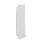 Flat End Plate for Slant/Fin Revital/Line Baseboard Heater Replacement Covers in Brite White