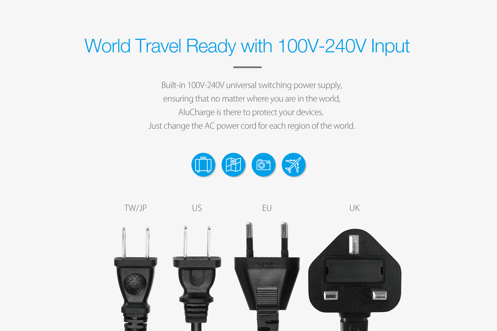 AluCharge™ UK Power Cord