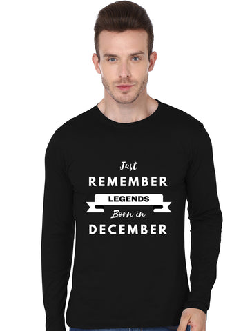 REMEMBER LEGENDS BORN IN DECEMBER FULLSLEEVE
