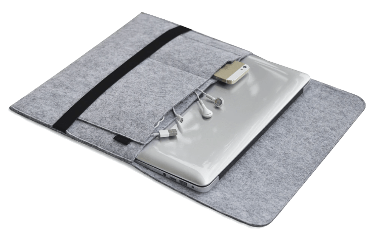 Macbook Sleeve af uld med strop (Newcastle edition)