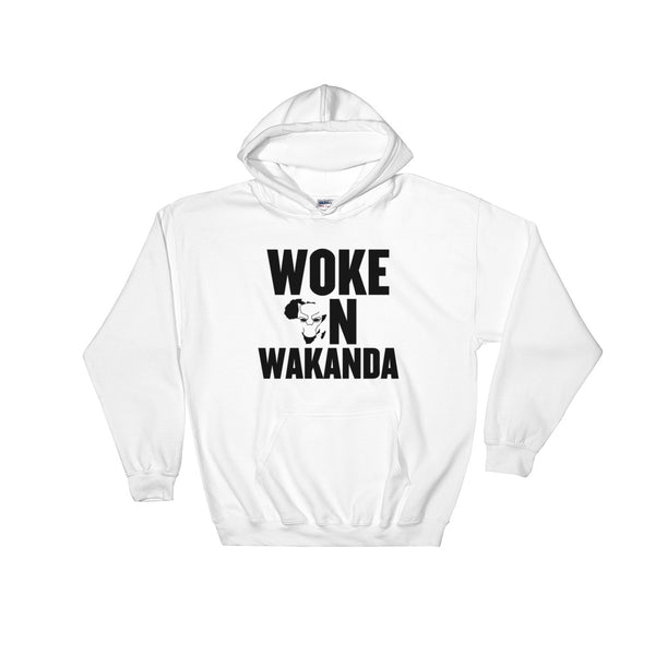Woke on Wakanda (Black) Hooded Sweatshirt