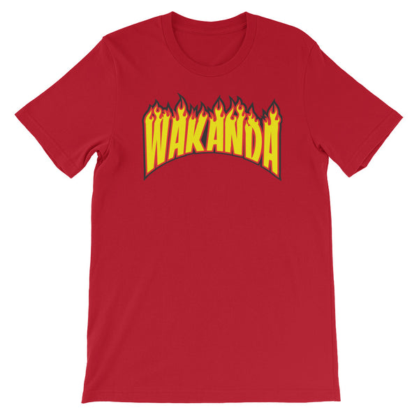 Wakanda Flames Short-Sleeve  Unisex T-Shirt