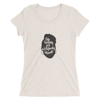 I'm Rooting For Everybody Black Ladies' short sleeve t-shirt
