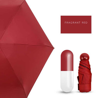 Windproof Pocket Pill Umbrella - Capsule