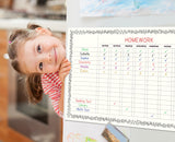 Magnetic Dry Erase Chore Chart for Refrigerator 11X17 Inch Multi Kid Whiteboard Planner, Includes 6 Markers and Eraser