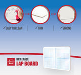 "Dry Erase XY Axis Lap Board 9""X12"" 5 Pack Erasers Included"