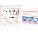 Dry Erase Ruled Lap Boards, 9 X12 inch Lined Whiteboard (Double sided White Boards )