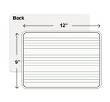 Dry Erase Music Whiteboards, 9X12 inch