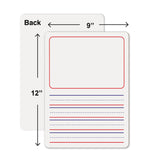 10 Pack Dry Erase Story Boards for Student Drawing Lap Whiteboards Erasers Included