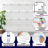 "Dry Erase Yearly Calendar 48"" X 36"" Month Reusable Wall Planner Includes 4 Markers 1 Eraser and Mounting Tape"