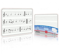 "Dry Erase Staff Music Lap White Board 9""X12"" l Write Musical Notes and More (Double Sided Small Single Whiteboard)"