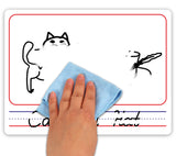 "Dry Erase Picture Board 9""X12"" Double Sided Single Whiteboard"