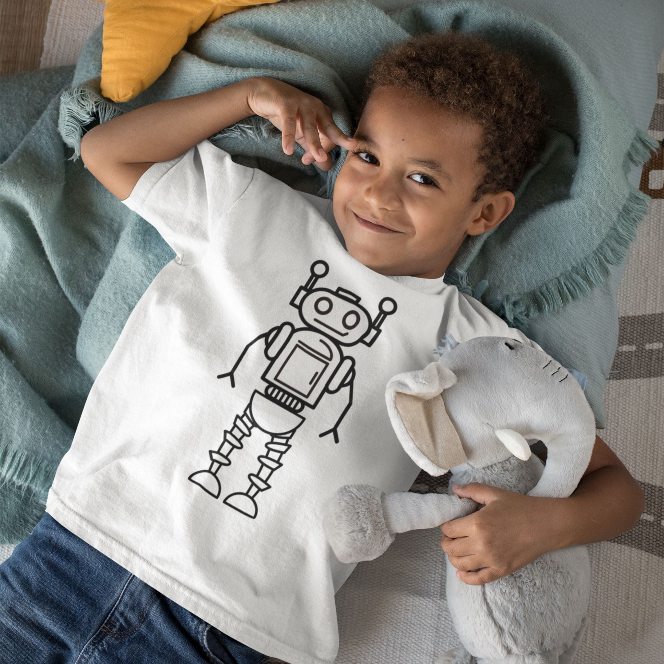 Colour Your Own Tshirt - Robot Tamba Naturals