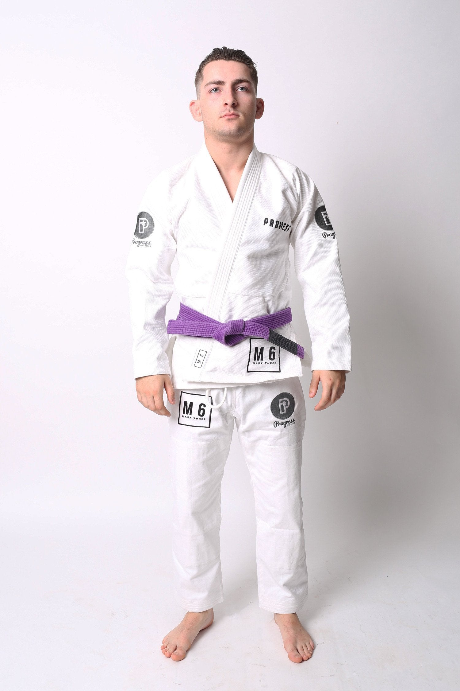 Image of Progress M6 MK3 White BJJ Gi