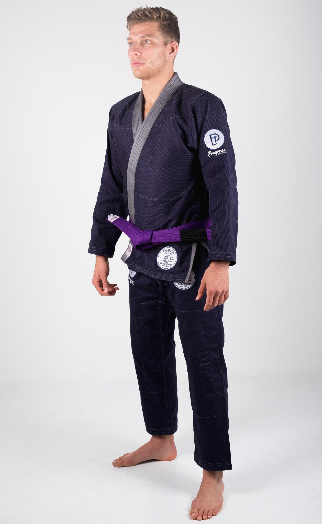 Image of Progress Be The Change Navy BJJ Gi