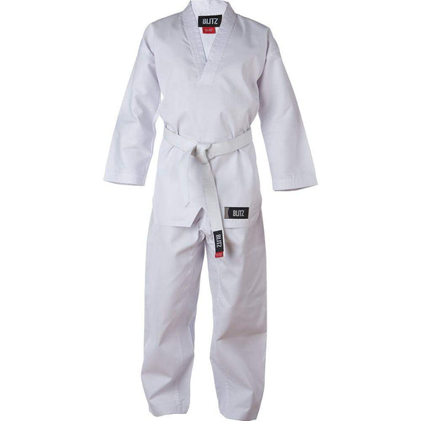 Blitz Kids V Neck Polycotton White Dobok