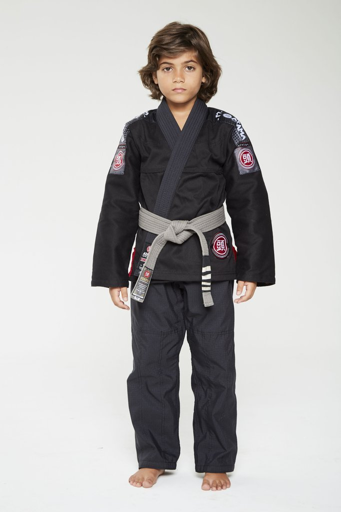 Image of Atama Ultra Light Black Kids BJJ Gi
