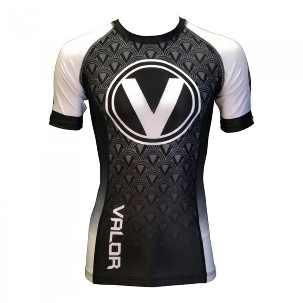 Valor IBJJF Short Sleeve Ranked White Rash Guard