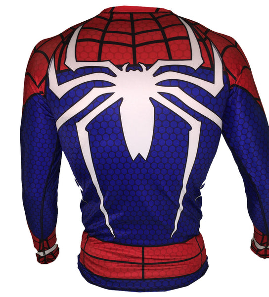Spiderman PS4 Long Sleeve Rash Guard