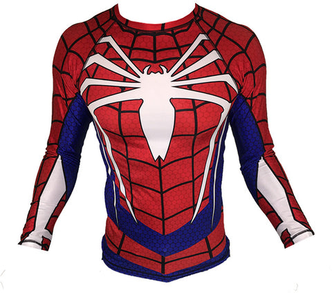 Spiderman PS4 Long Sleeve Rash Guard BRAND NEW!