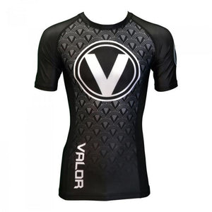 Valor IBJJF Short Sleeve Rank Black Rash Guard