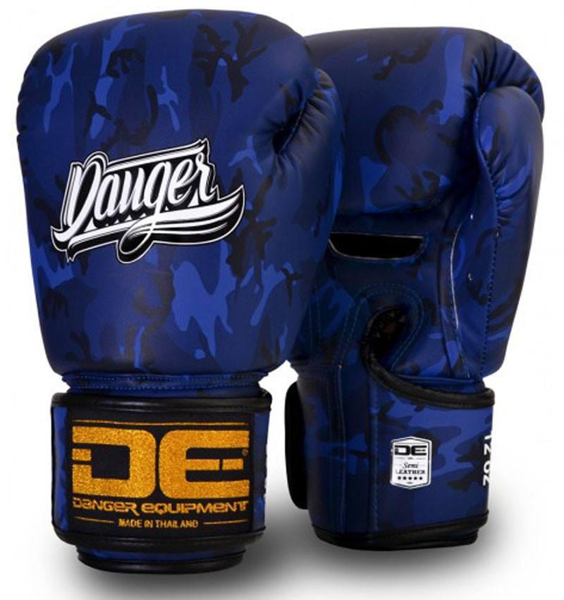 Image of Blue Danger Boxing Gloves Army Edition