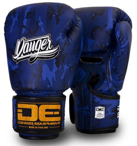 Blue Danger Boxing Gloves Army Edition