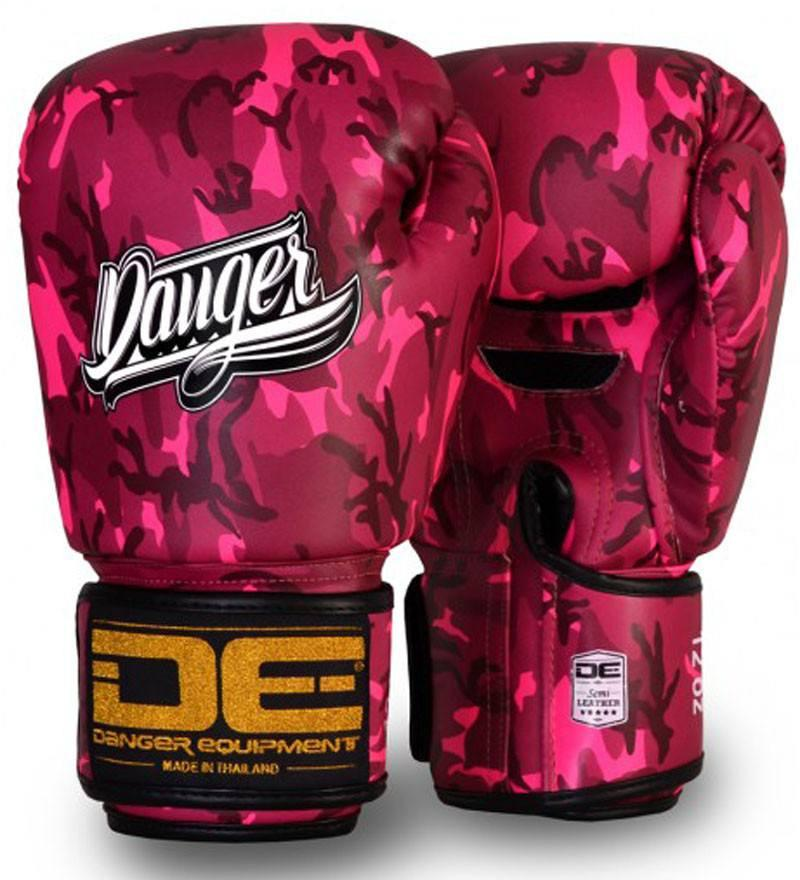 Image of Pink Danger Boxing Gloves Army Edition