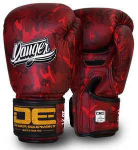 Red Danger Boxing Gloves Army Edition