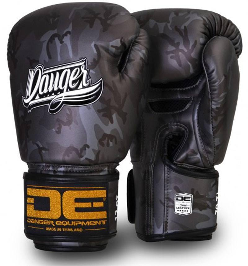 Silver Danger Boxing Gloves Army Edition
