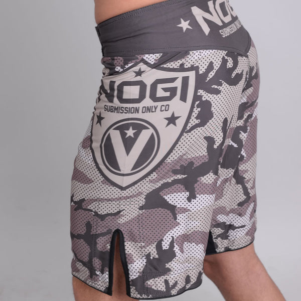 Valor Liquid Camo NO GI Shorts Desert