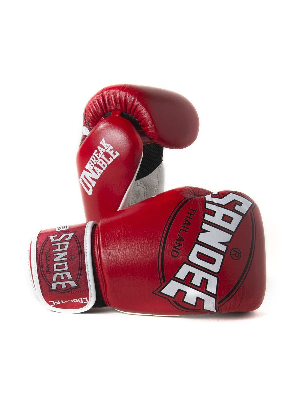 Image of Sandee Cool Tec Red Leather Boxing Gloves