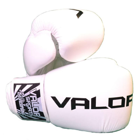 Valor Seisho Pro White Boxing Gloves