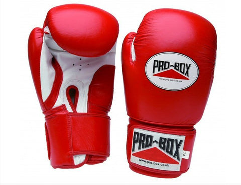 Pro Box Red Super Spar Boxing Gloves