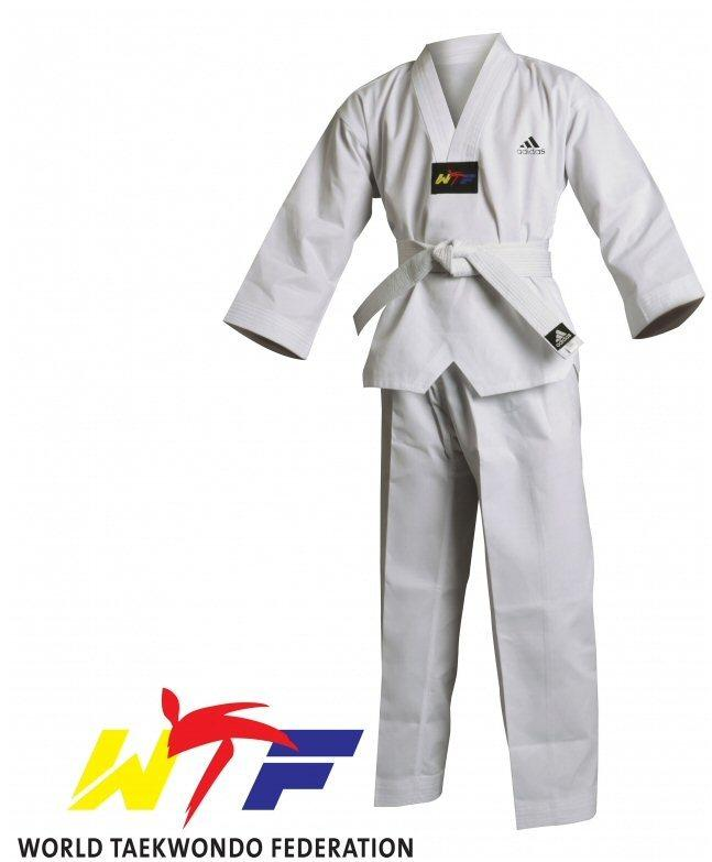Adidas Adult WTF Student Dobok Without Stripes