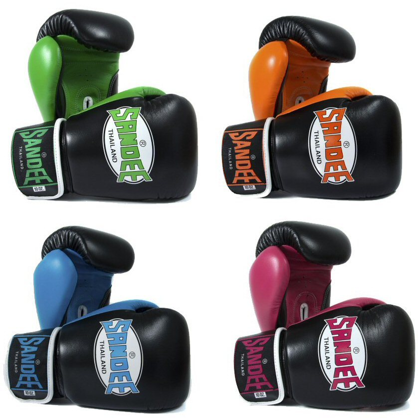 Sandee Neon Leather Boxing Gloves