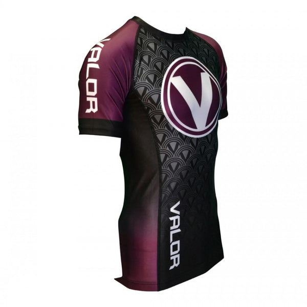Valor IBJJF Short Sleeve Rank Purple Rash Guard