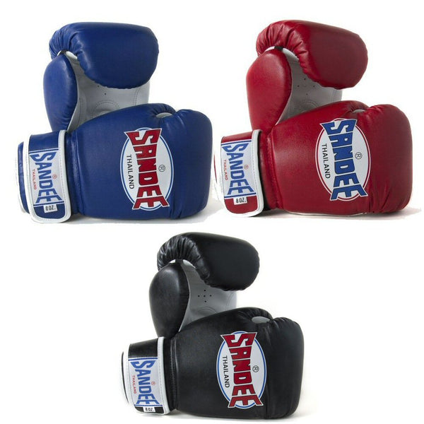 Sandee Authentic Velcro Synthetic Leather Boxing Gloves