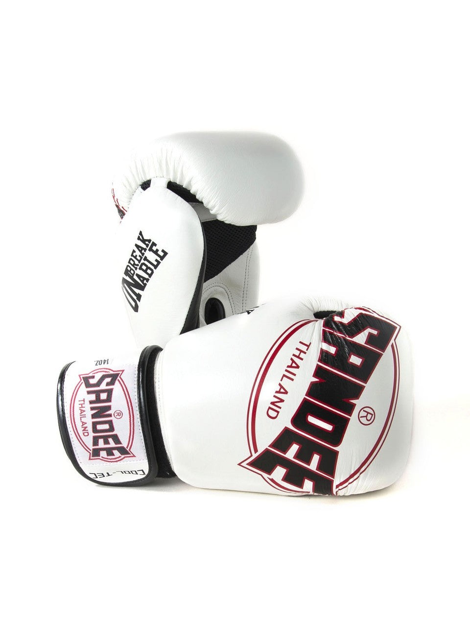 Image of Sandee Cool Tec White Leather Boxing Gloves