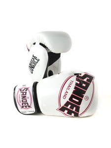 Sandee Cool Tec White Leather Boxing Gloves