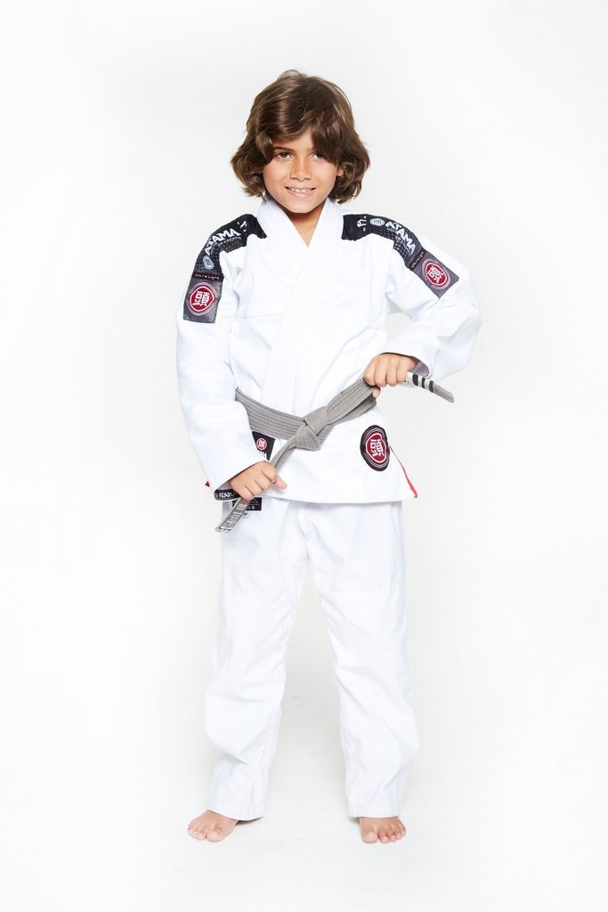 Image of Atama Ultra Light White Kids BJJ Gi
