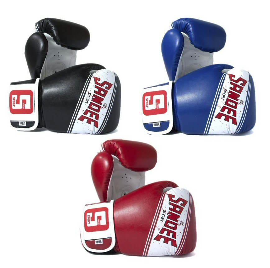 Image of Sandee Sport Velcro Synthetic Leather Boxing Gloves