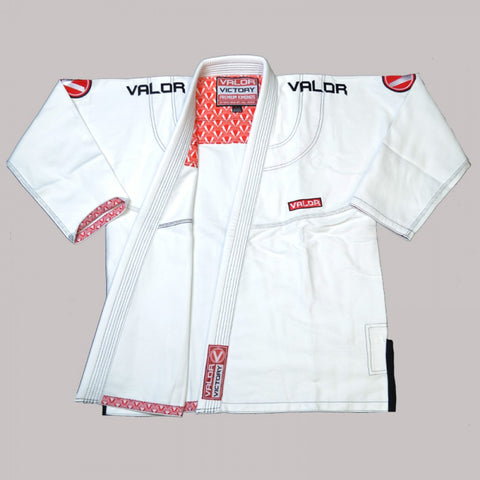 Valor Victory 2.0 Premium Lightweight White Ladies BJJ GI