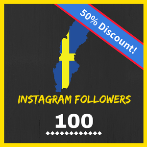 Buy 100 Swedish Instagram Followers