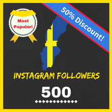Most popular variant: 500 Swedish Followers