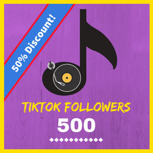 Shop 500 TikTok followers